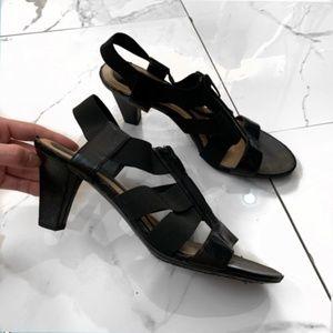 Naturalized N5 Comfort Black Strappy Heels